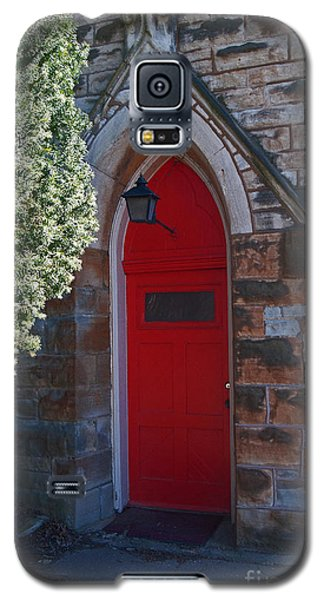 Red Church Door Galaxy S5 Case