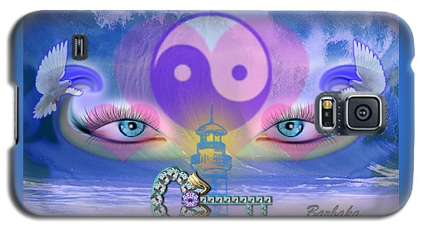 Galaxy S5 Case featuring the digital art Hope Is The Key To Balance Love And Peace by Barbara Tristan