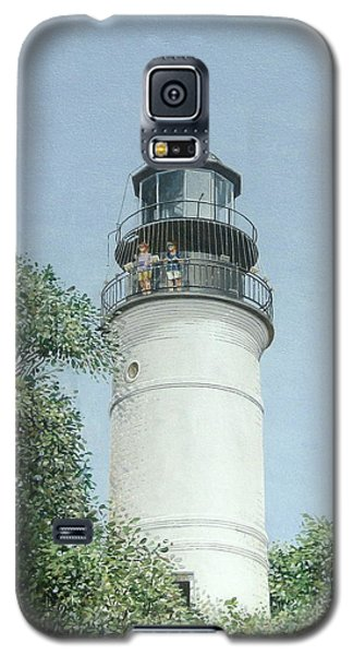 Galaxy S5 Case featuring the painting Key West Lighthouse by Bob George