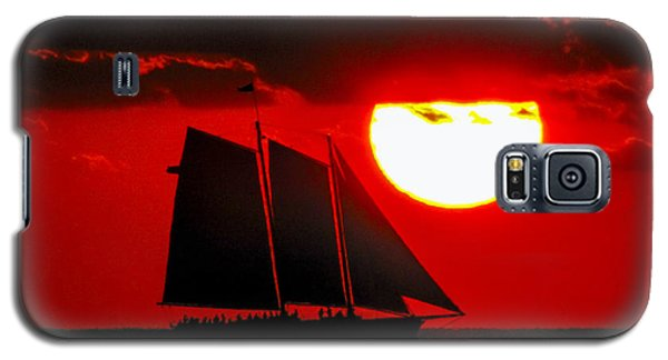 Key West Sunset Sail Silhouette Galaxy S5 Case