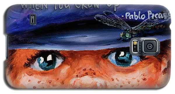 Galaxy S5 Case featuring the painting Kid by Igor Postash