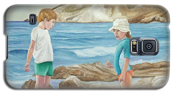 Kids Collecting Marine Shells Galaxy S5 Case