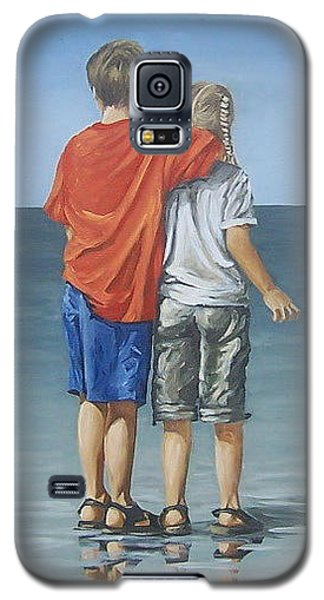 Galaxy S5 Case featuring the painting Kids by Natalia Tejera