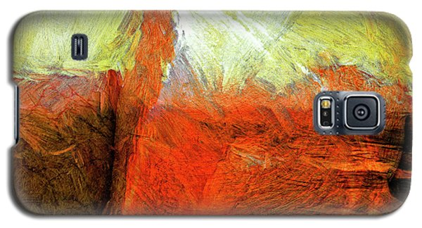 Galaxy S5 Case featuring the painting Kilauea by Dominic Piperata