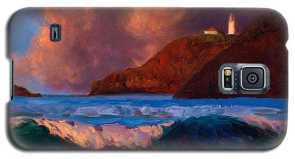 Kilauea Lighthouse - Hawaiian Cliffs Sunset Seascape And Clouds Galaxy S5 Case