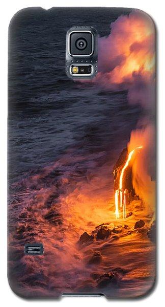 Kilauea Volcano Lava Flow Sea Entry 6 - The Big Island Hawaii Galaxy S5 Case