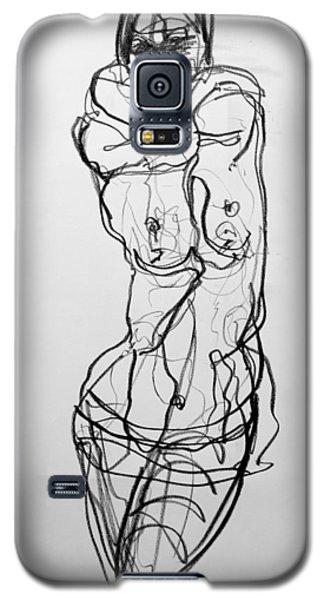 Galaxy S5 Case featuring the drawing Kilroy 5 by Jarmo Korhonen aka Jarko