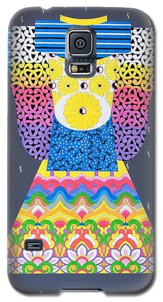 Galaxy S5 Case featuring the painting Kimono by Thomas Gronowski