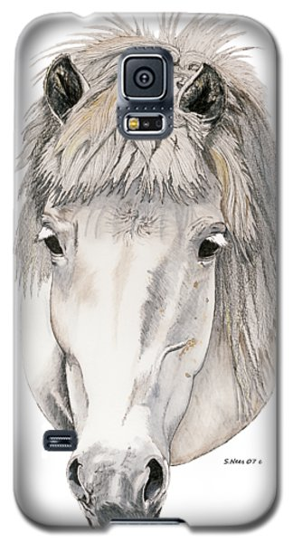 Galaxy S5 Case featuring the painting Kind Eyes by Shari Nees
