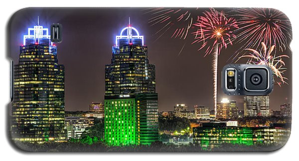 Galaxy S5 Case featuring the photograph King And Queen Buildings Fireworks by Anna Rumiantseva