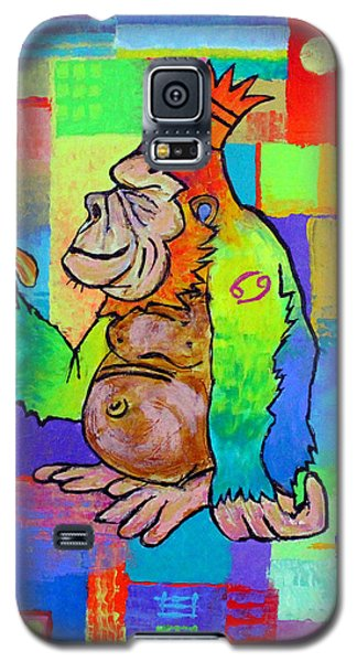 King Konrad The Monkey Galaxy S5 Case by Jeremy Aiyadurai
