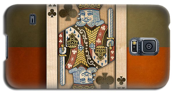 King Of Clubs In Wood Galaxy S5 Case