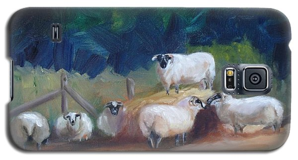 Galaxy S5 Case featuring the painting King Of Green Hill Farm by Donna Tuten