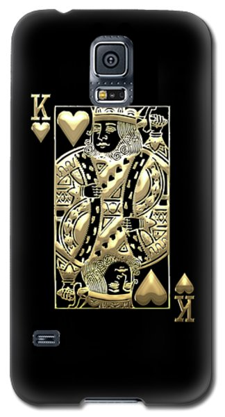 King Of Hearts In Gold On Black Galaxy S5 Case