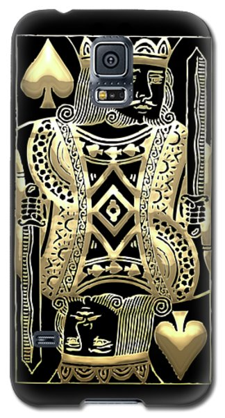 King Of Spades In Gold On Black   Galaxy S5 Case