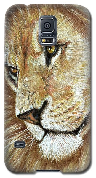 Galaxy S5 Case featuring the drawing King Of The Jungle by Heidi Kriel