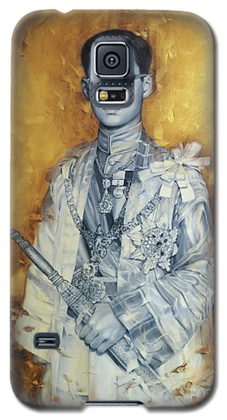 Galaxy S5 Case featuring the painting King Phumiphol by Chonkhet Phanwichien