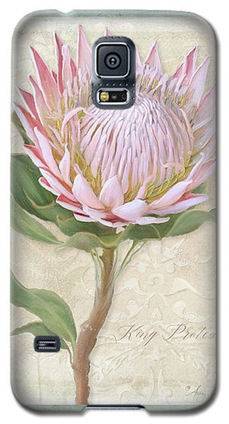 King Protea Blossom - Vintage Style Botanical Floral 1 Galaxy S5 Case by Audrey Jeanne Roberts