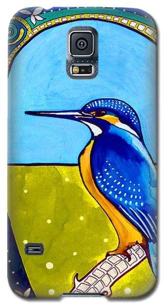 Galaxy S5 Case featuring the painting Kingfisher by Dora Hathazi Mendes