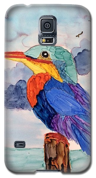 Kingfisher On Post Galaxy S5 Case by Suzanne Canner