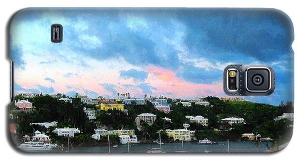 Galaxy S5 Case featuring the photograph King's Wharf Bermuda Harbor Sunrise by Susan Savad