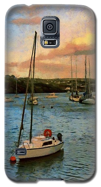Galaxy S5 Case featuring the painting Kinsale Harbour Evening by Jeff Kolker