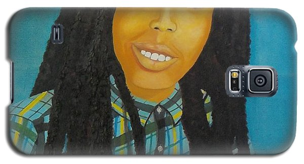 Galaxy S5 Case featuring the painting Kinshasa My First Grandchild by Nicole Jean-Louis