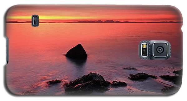 Galaxy S5 Case featuring the photograph Kintyre Rocky Sunset 2 by Grant Glendinning