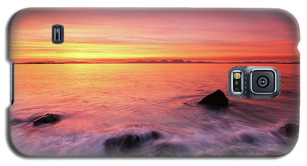 Galaxy S5 Case featuring the photograph Kintyre Rocky Sunset 3 by Grant Glendinning