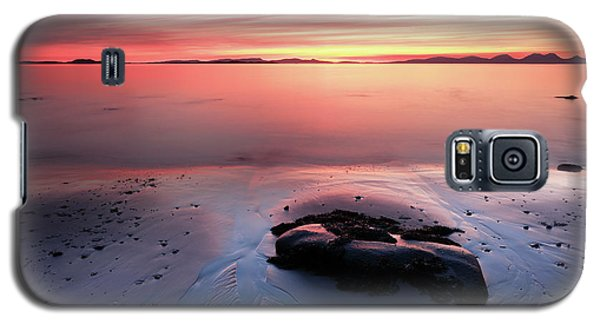 Galaxy S5 Case featuring the photograph Kintyre Rocky Sunset 5 by Grant Glendinning