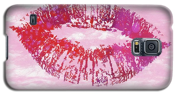 Galaxy S5 Case featuring the mixed media Kiss Like You Mean It by Dan Sproul