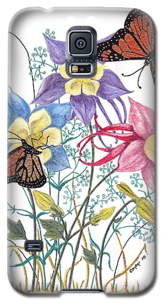 Galaxy S5 Case featuring the painting Kiss The Sun by Stanza Widen