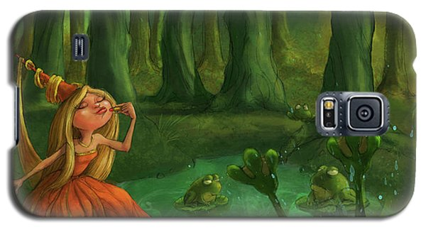 Castle Galaxy S5 Case - Kissing Frogs by Andy Catling