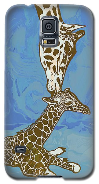 Kissing - Giraffe Stylised Pop Art Poster Galaxy S5 Case