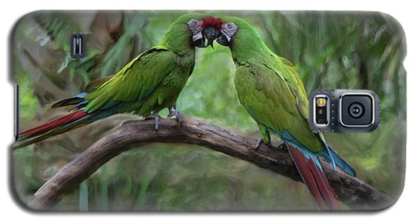 Kissing Macaws Galaxy S5 Case