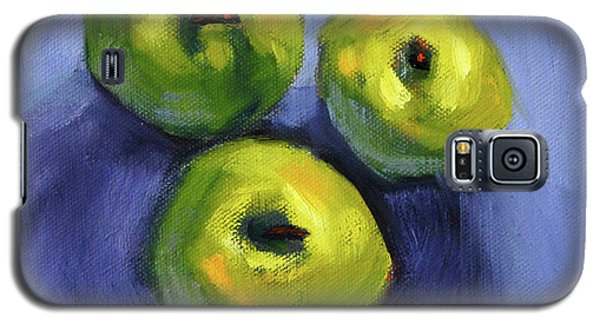 Galaxy S5 Case featuring the painting Kitchen Pears Still Life by Nancy Merkle