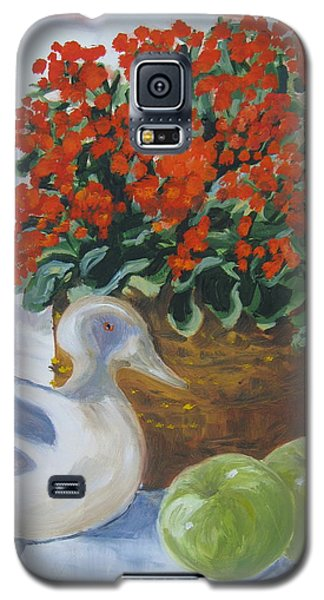 Galaxy S5 Case featuring the painting Kitchen Table by Julie Todd-Cundiff