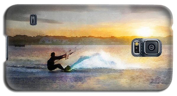 Kite Boarding At Sunset Galaxy S5 Case by Francesa Miller
