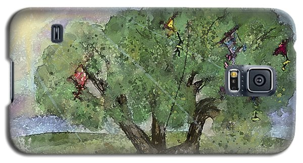 Galaxy S5 Case featuring the painting Kite Eating Tree by Annette Berglund