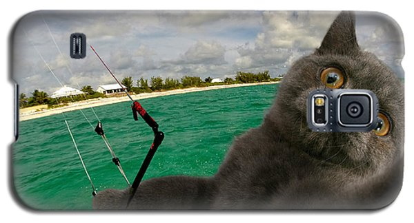 Kite Surfing Cat Selfie Galaxy S5 Case