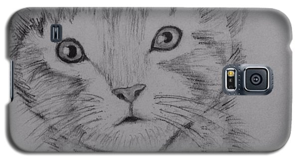 Galaxy S5 Case featuring the painting Kitten by Brindha Naveen