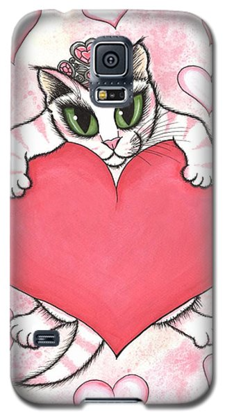 Kitten With Heart Galaxy S5 Case