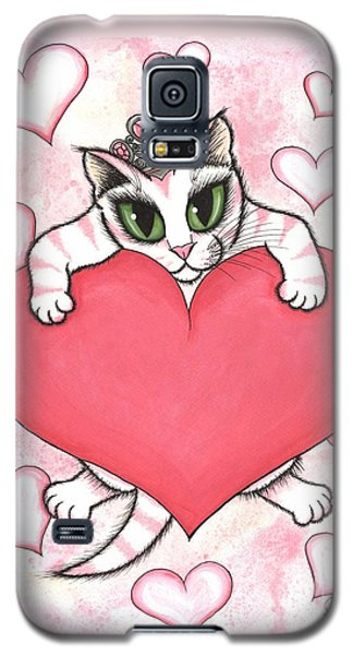 Kitten With Heart Galaxy S5 Case by Carrie Hawks