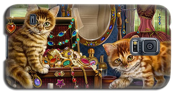 Kittens With Jewelry Box Galaxy S5 Case