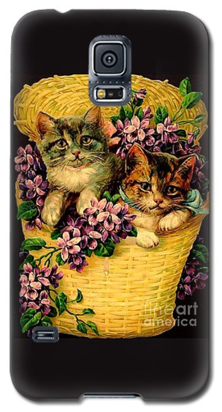 Kittens With Violets Victorian Print Galaxy S5 Case