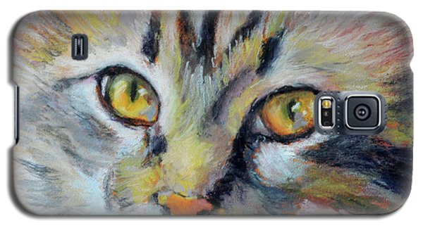 Galaxy S5 Case featuring the pastel Kitters II by Pattie Wall