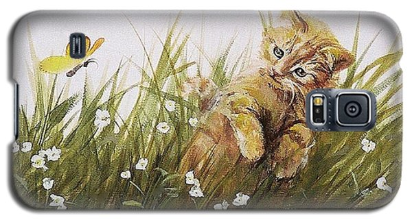 Kitty And Butterfly Galaxy S5 Case