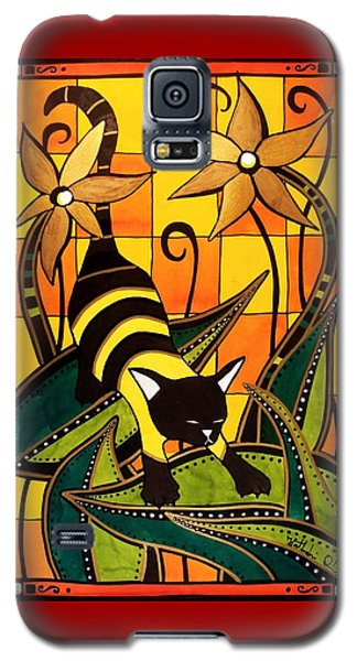 Kitty Bee - Cat Art By Dora Hathazi Mendes Galaxy S5 Case