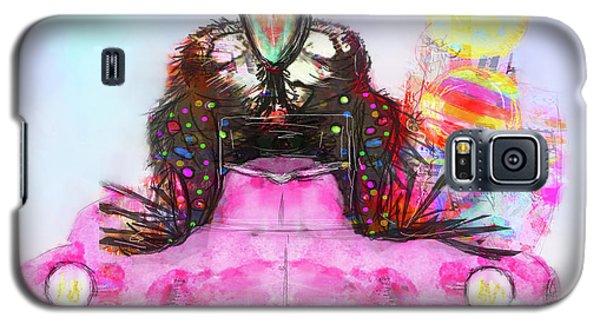 Galaxy S5 Case featuring the digital art Kitty Car Crow by Kari Nanstad