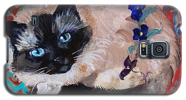 Kitty Goes To Paris Galaxy S5 Case by Robin Maria Pedrero